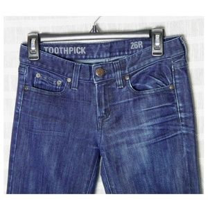 J. Crew Jeans - J.Crew Toothpick Size 26 26R Blue Jeans
